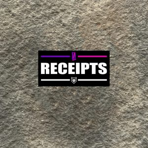 Receipts Vinyl Decal